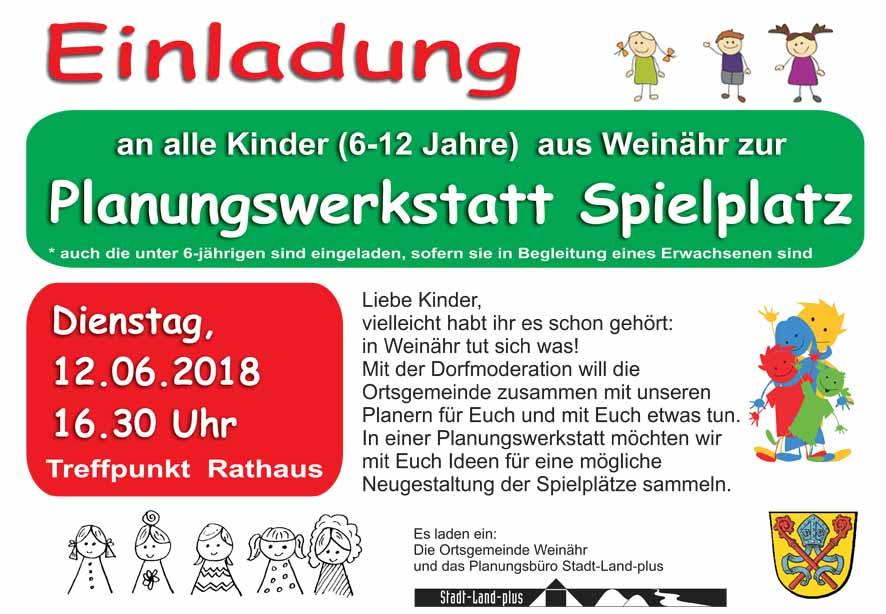 Einladung Planungswerkstatt Spielplatz_Weinähr.cdr